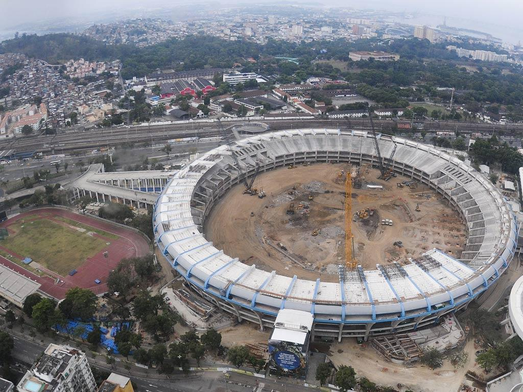 The Maracana stadium, which will host the 2014 World Cup final, is currently being re-developed