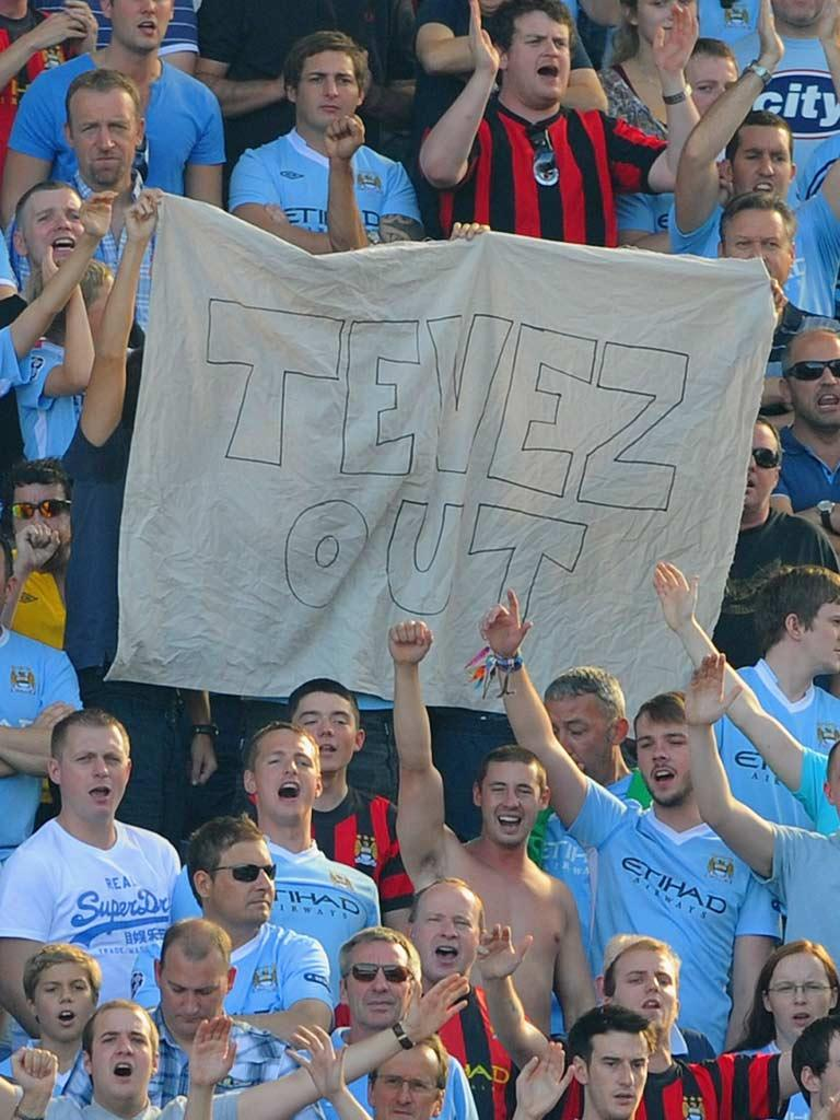 Mancini said after the Bayern game that Tevez was 'finished' at the club