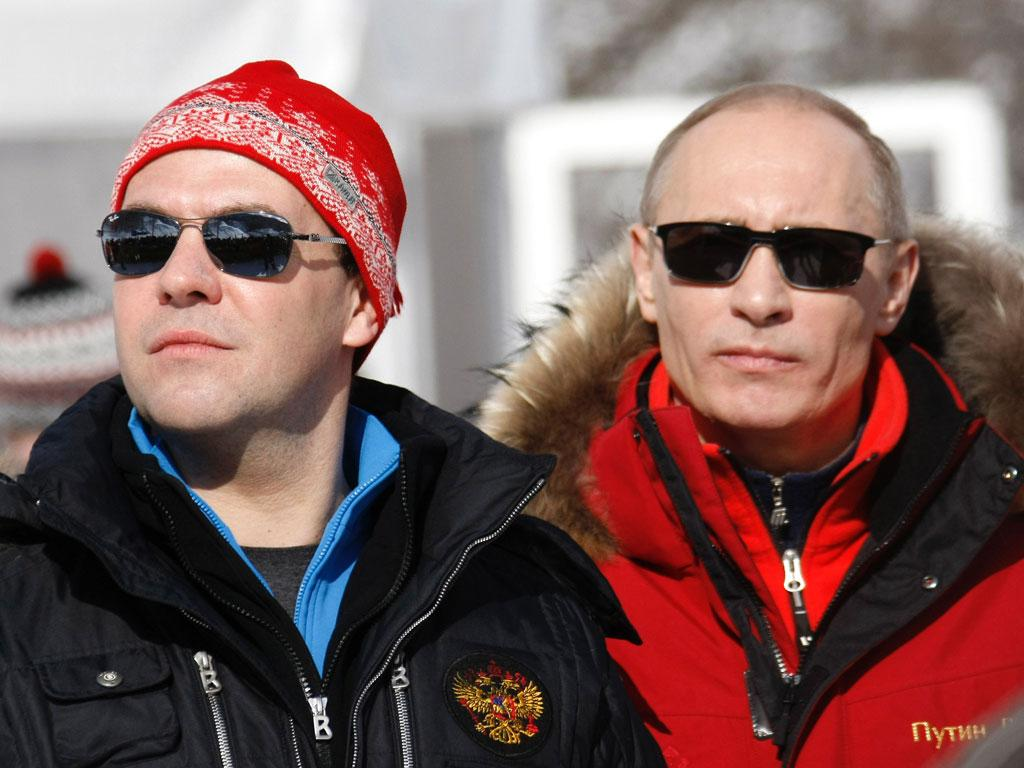 Dmitry Medvedev  and Vladimir Putin visited Sochi earlier this year