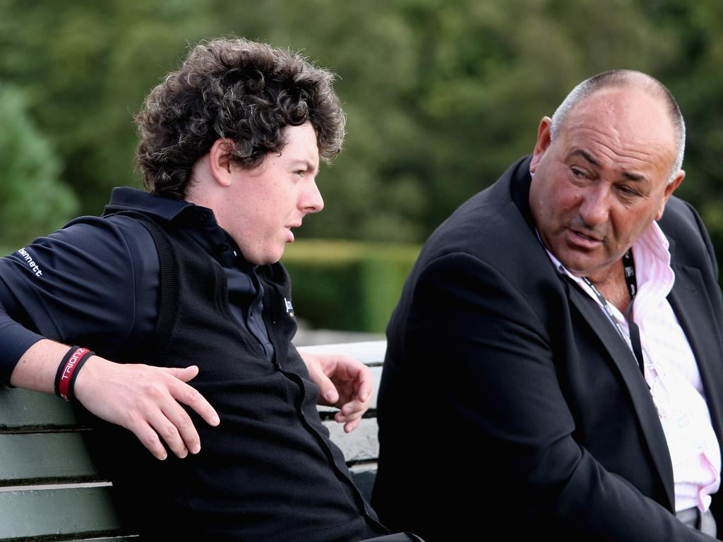 Chubby Chandler (right) was stunned when Rory McIlroy told him of the move
