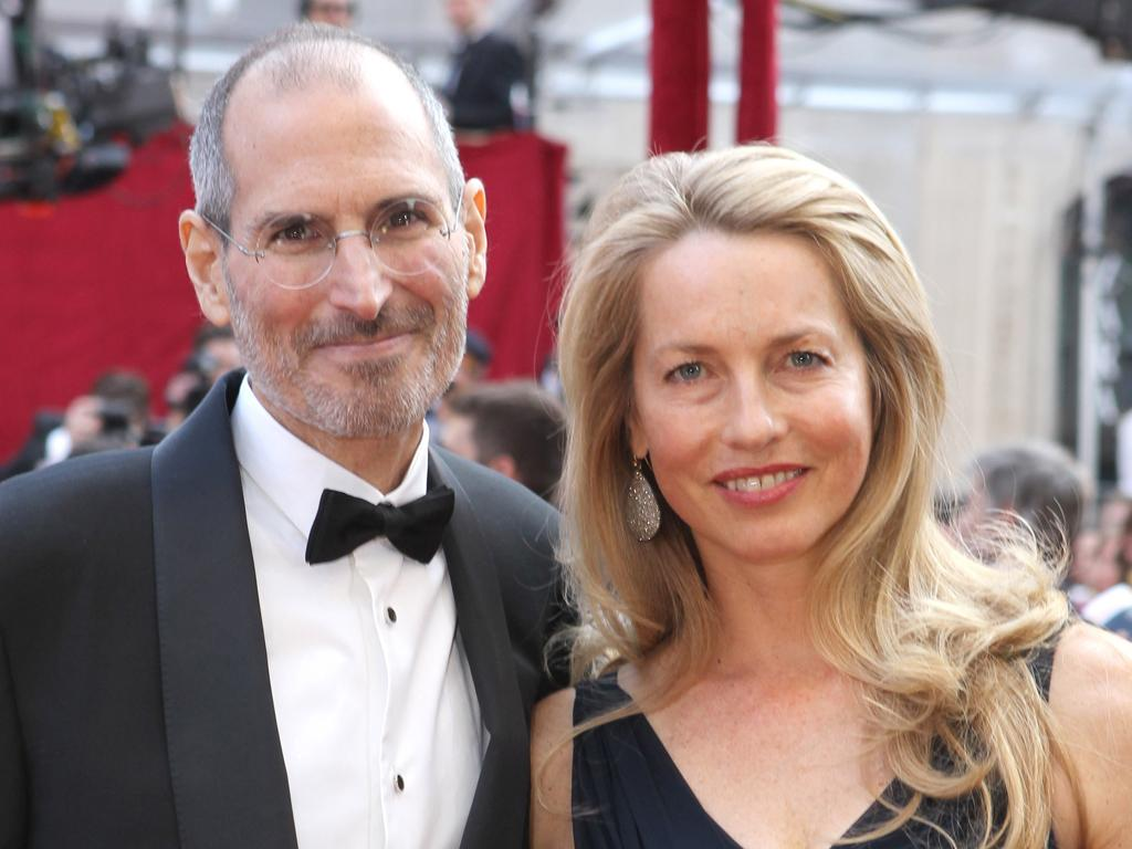 Steve Jobs with his wife, Laurene Powell, whom he married in 1990
