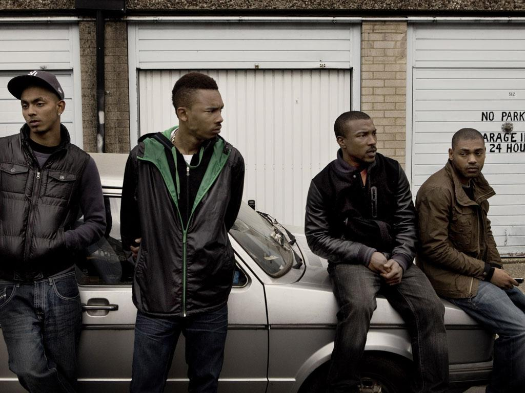 In 'Top Boy', Dushane (Ashley Walters, third from left) will kill to dominate the drug trade