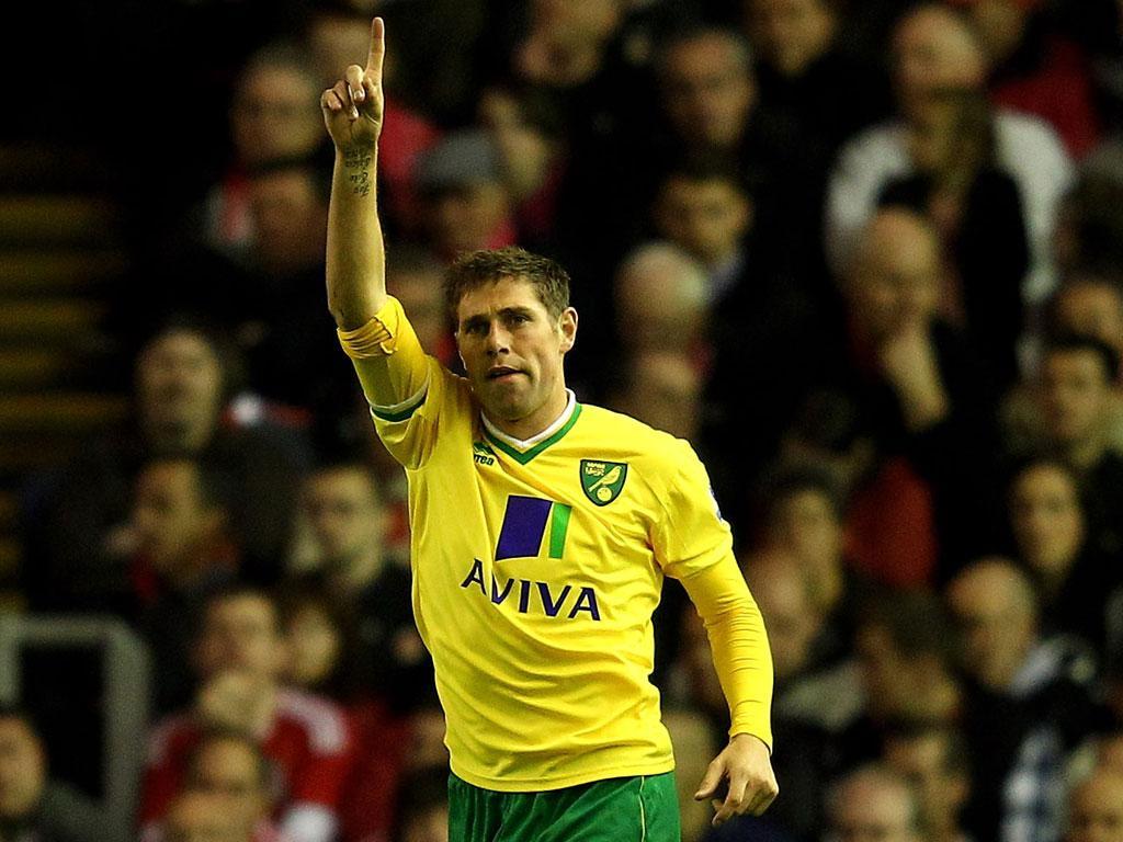 Grant Holt scored for Premier League new-boys Norwich City
