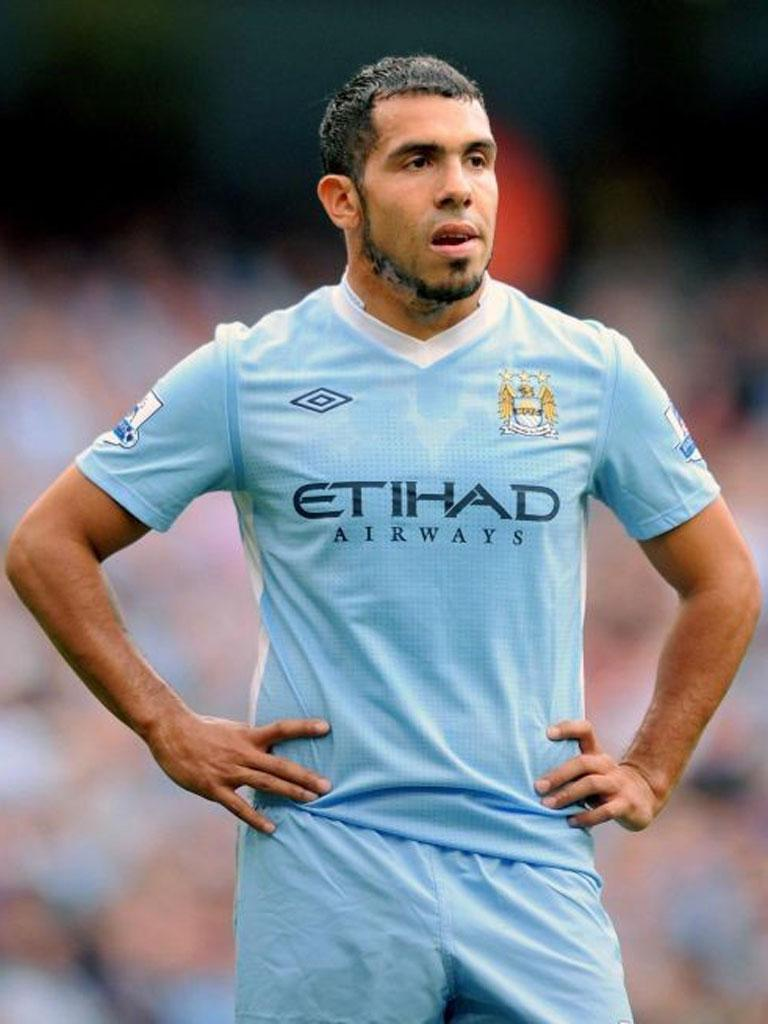 Carlos Tevez was fined four weeks' wages and warned as to his future conduct by City's disciplinary panel