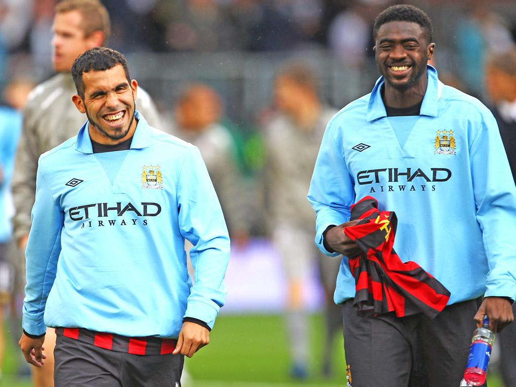 Carlos Tevez and Kolo Toure could both have a battle with City