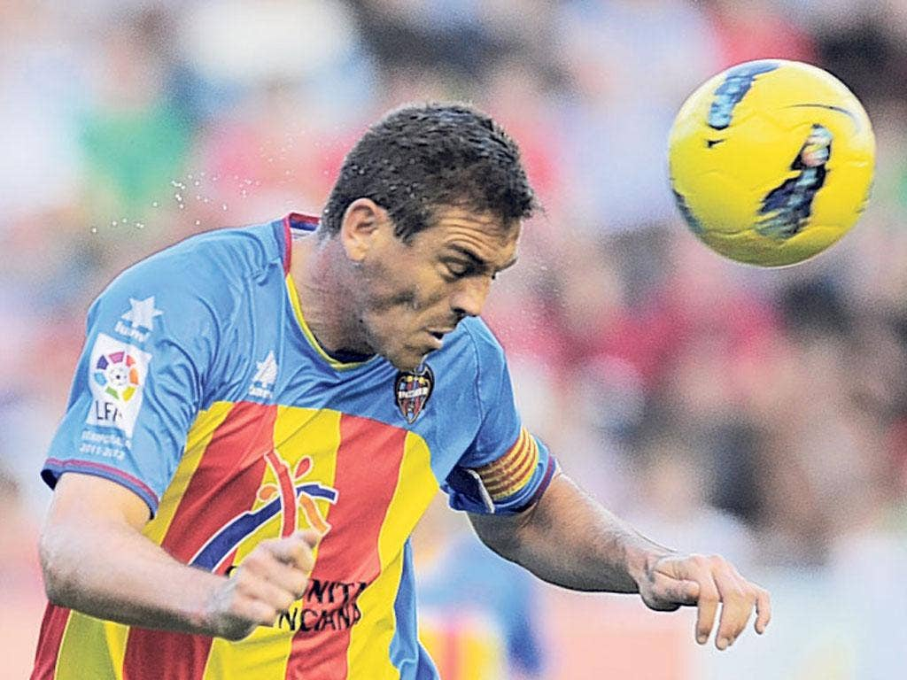 Levante captain Sergio Ballesteros was unable to keep his side top of La Liga