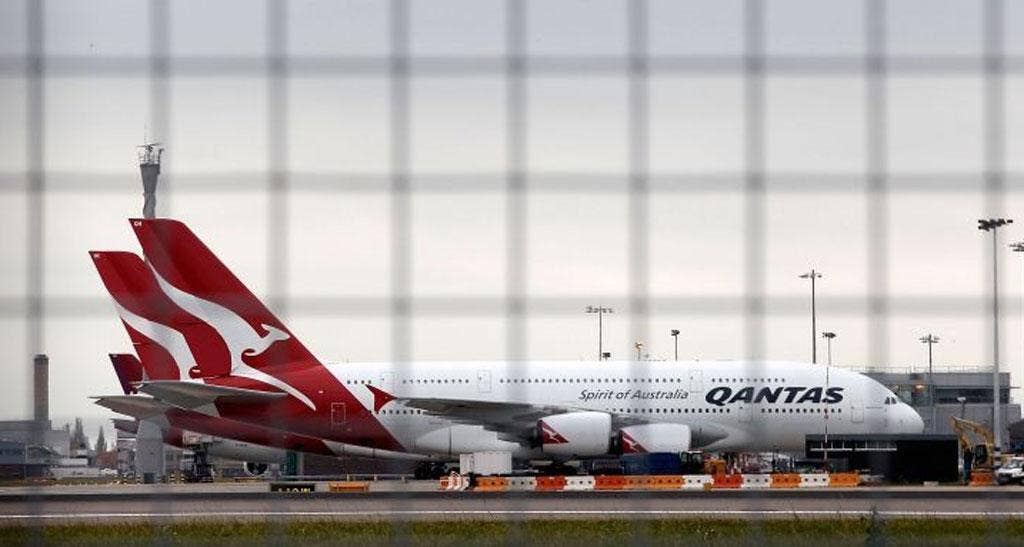 Qantas jets grounded at Heathrow
