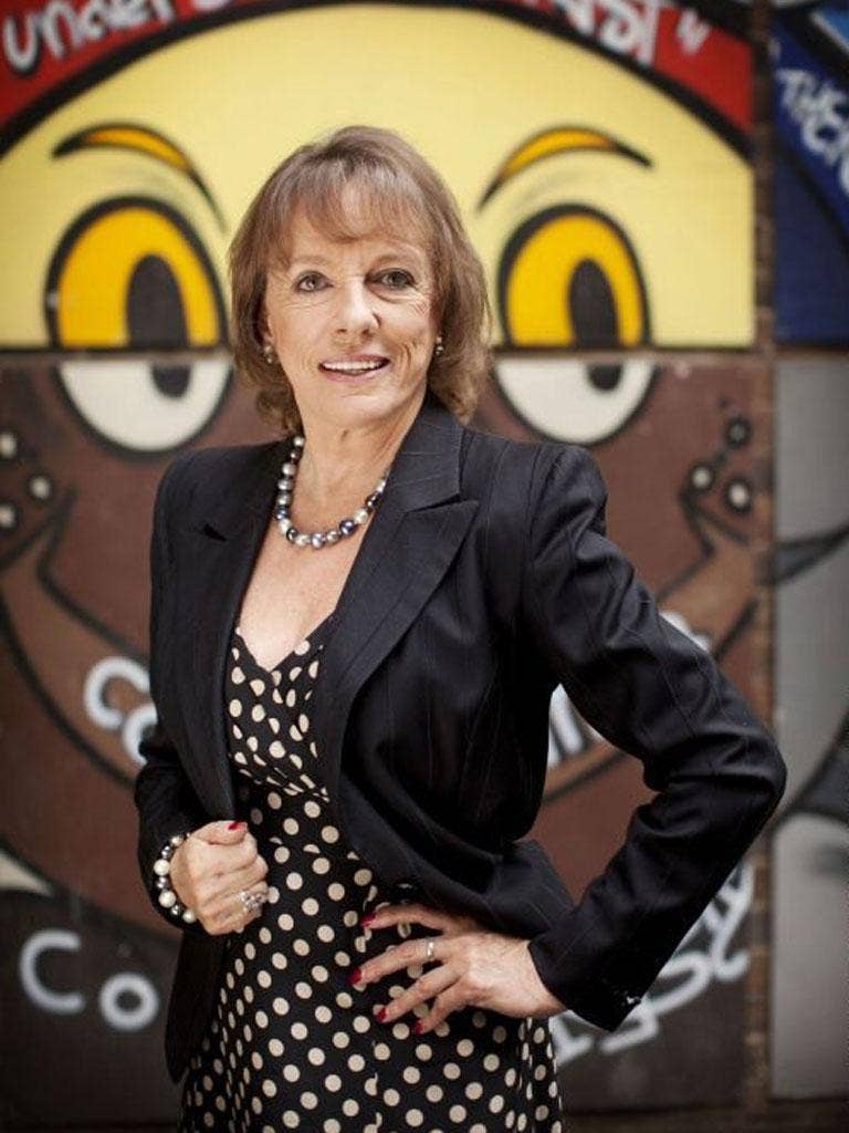 Esther Rantzen on Radio 5 Live plugging her book marking 25 years of ChildLine, Running Out Of Tears