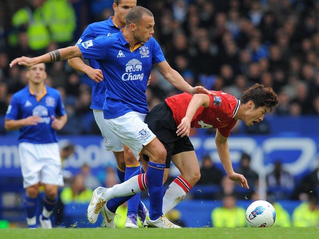 Park helped United defeat Everton 1-0 on Saturday