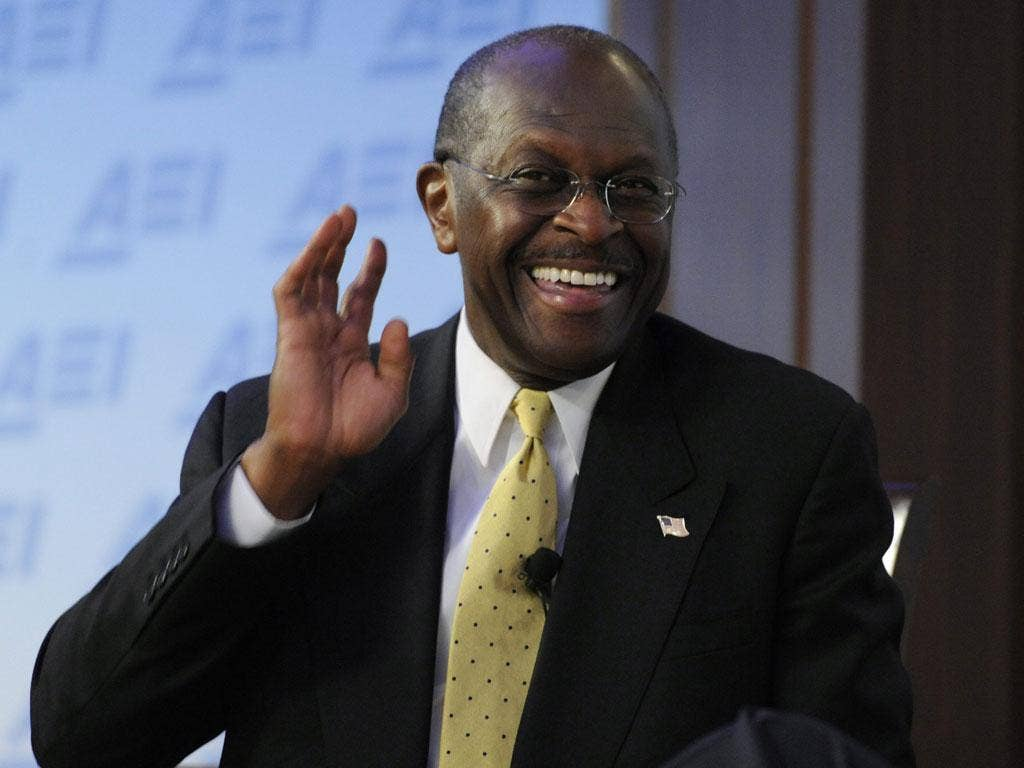 Herman Cain has emerged as a surprise Republican frontrunner