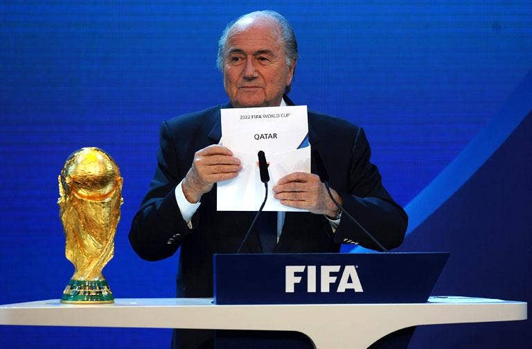 Sepp Blatter announces Qatar as the successful bidders for the 2022 World Cup last year