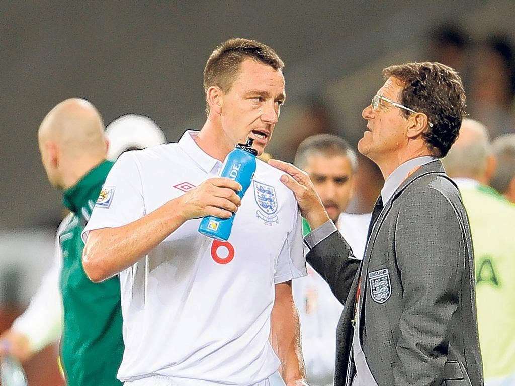 John Terry will be in the squad named by Fabio Capello on Sunday but still may not play