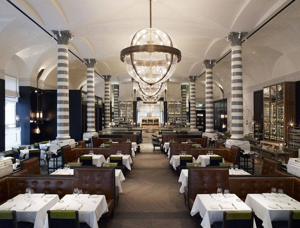 Elegant: Massimo is a sepia-tinted tableau of steam-age glamour