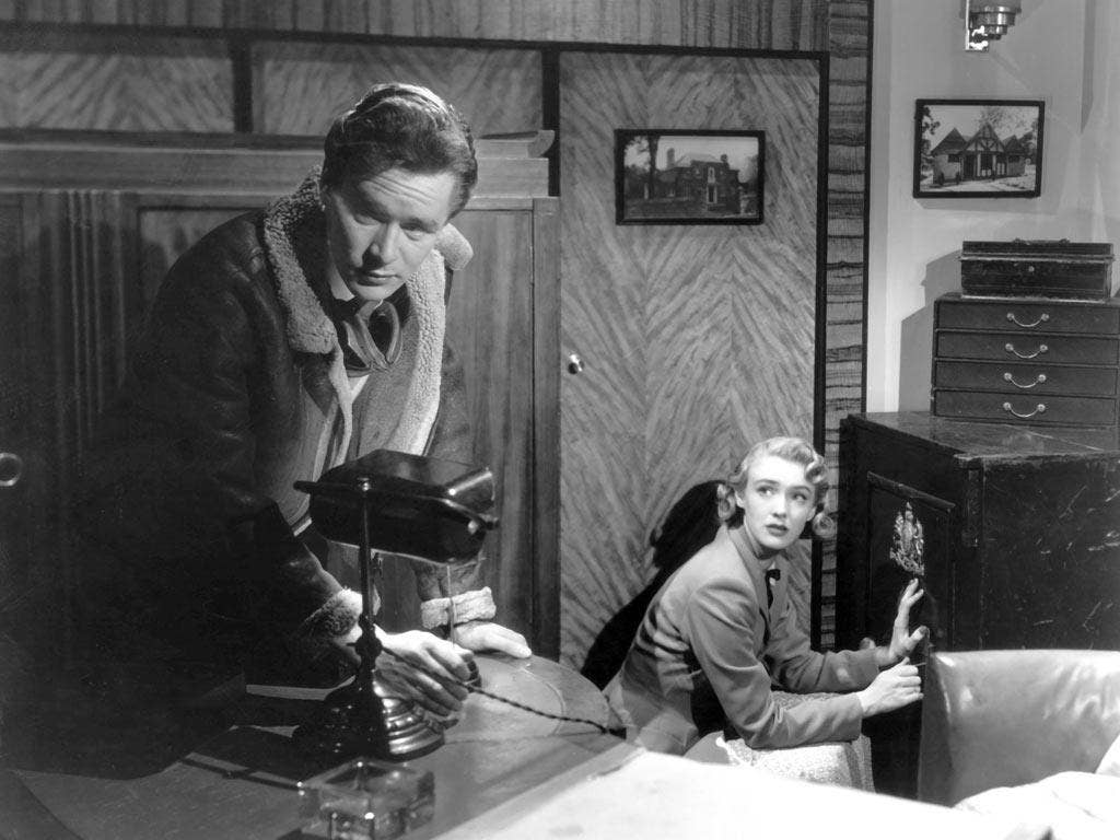 Early success: Hammond with Susan Shaw in the 1949 film 'Vote for Huggett'