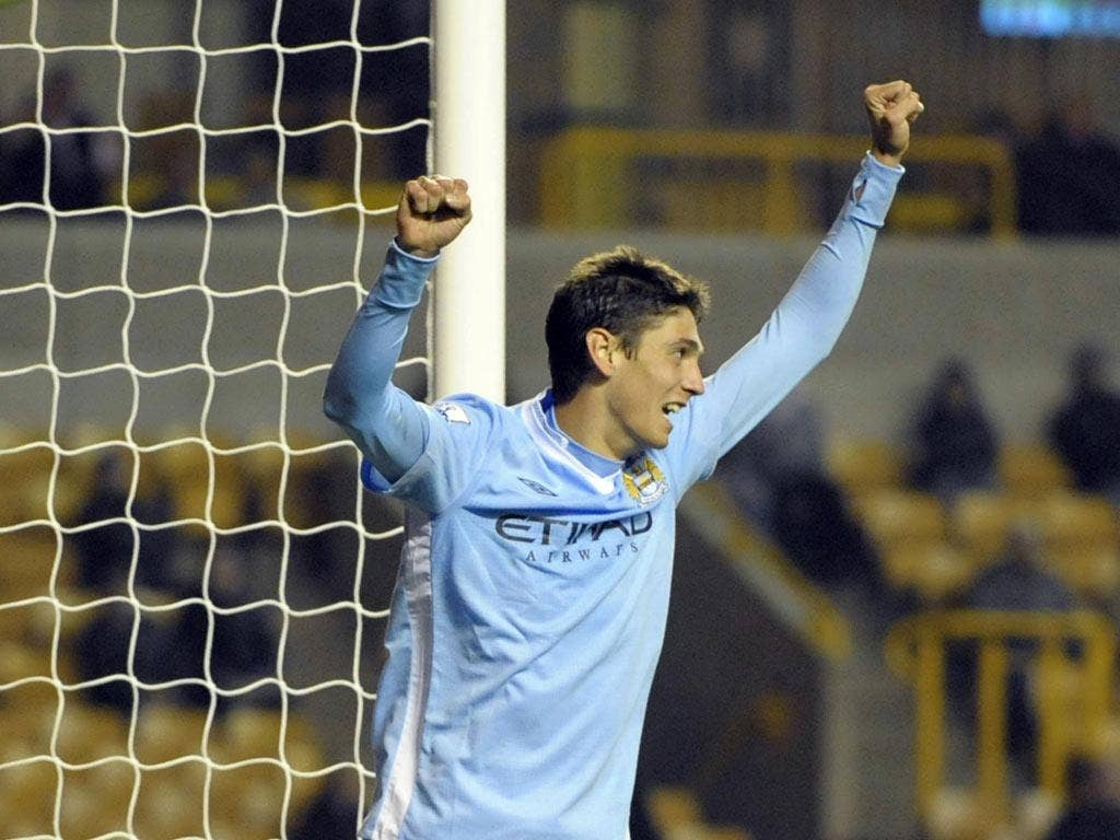 City striker Luca Scapuzzi has been sent on loan to  Mancini's son, Andreas