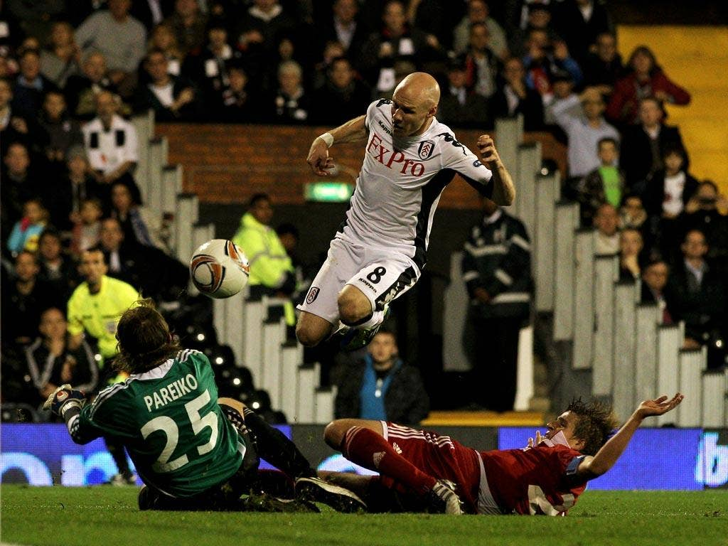Andy Johnson produced two fine finishes for Fulham last night