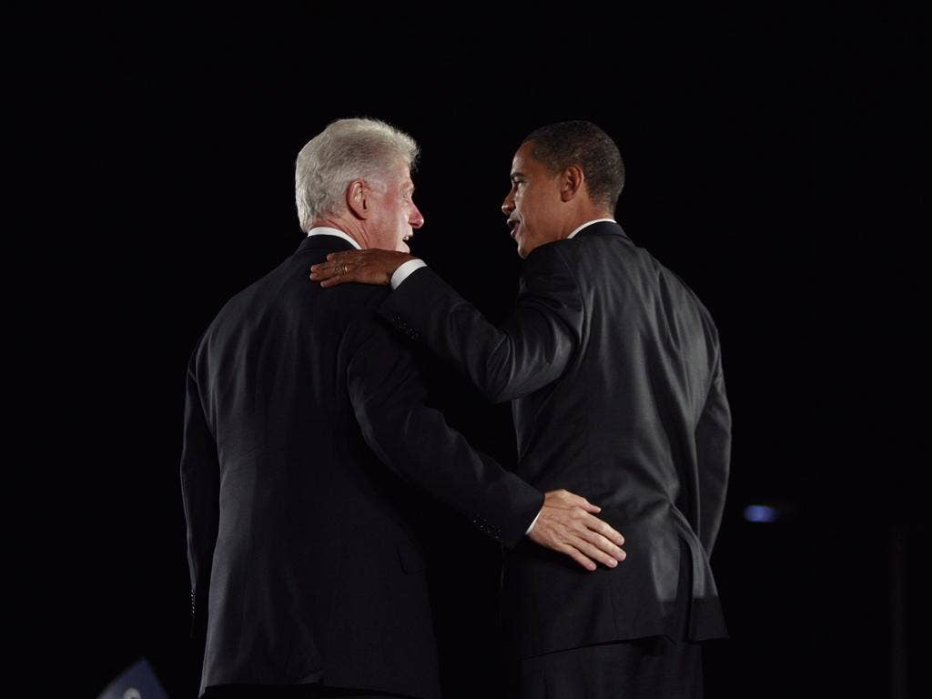 Bill Clinton publicly backed Barack Obama on the election trail in 2008; now, it seems, he is not so sure
