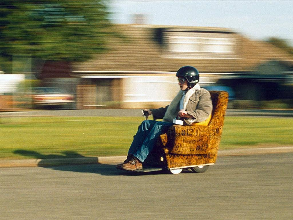 Going for it: inventor Andy Archer in his motorised chair. The road to market can be long and complex
