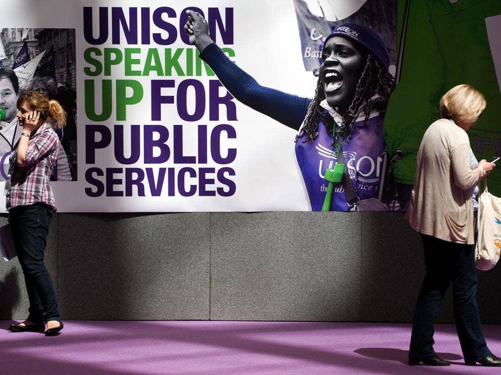 Unison represents a million workers, but only 29 per cent took part in the strike vote