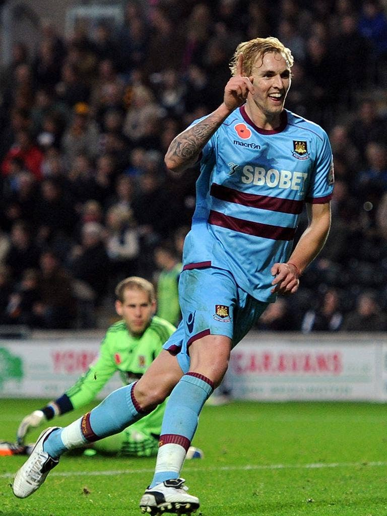 Jack Collison provided one of the goals that ended the Hammers' wait for victory at Hull
