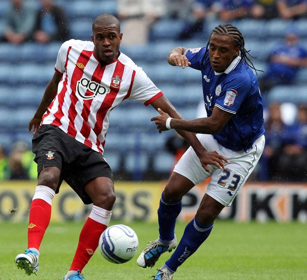 Super Saint: Guly do Prado, left, proves the prime mover in Southampton's victory