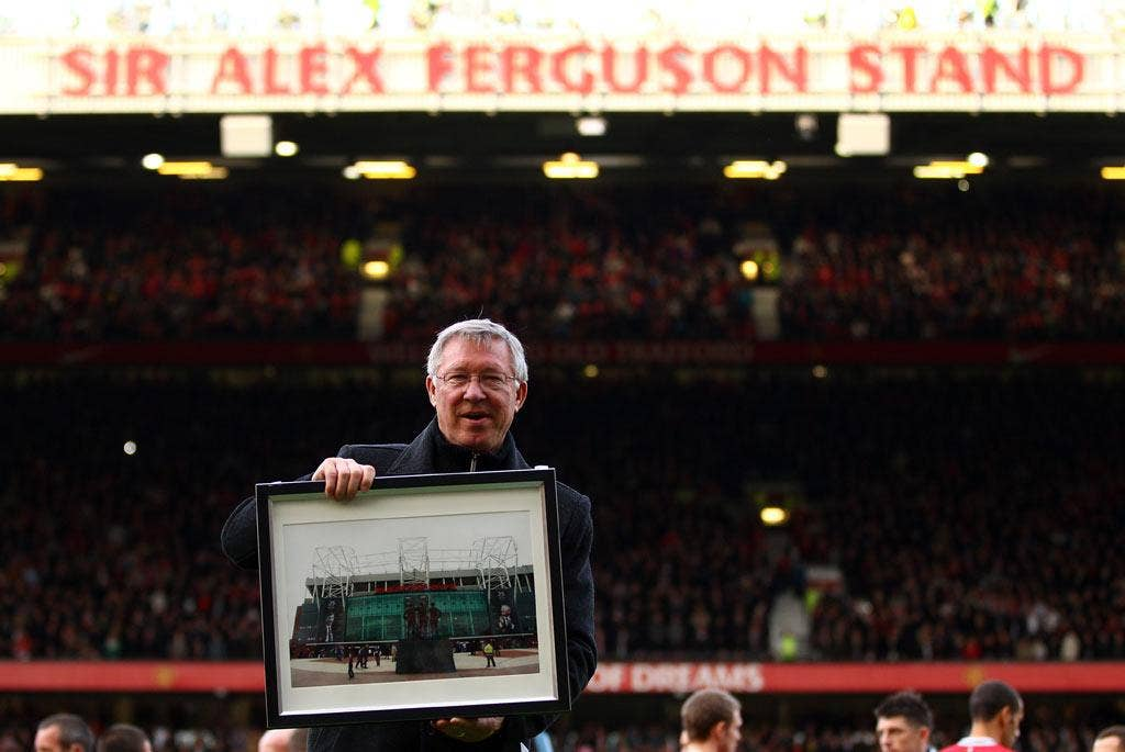 Sir Alex Ferguson was surprised to find the North Stand renamed after him