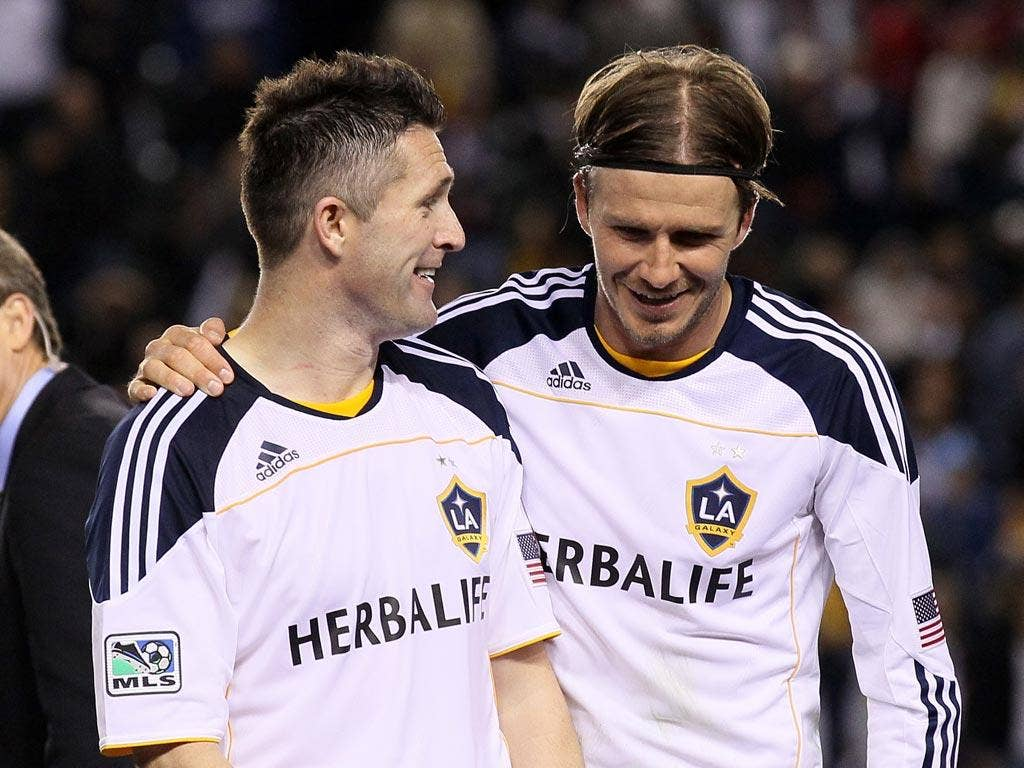 David Beckham and Robbie Keane enjoy Galaxy's victory