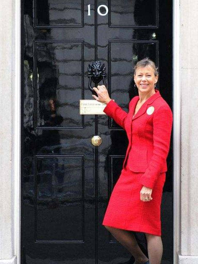 Jenny Agutter  visited 10 Downing Street yesterday to hand in a petition with more than 11,000 signatures calling for cheaper rail fares