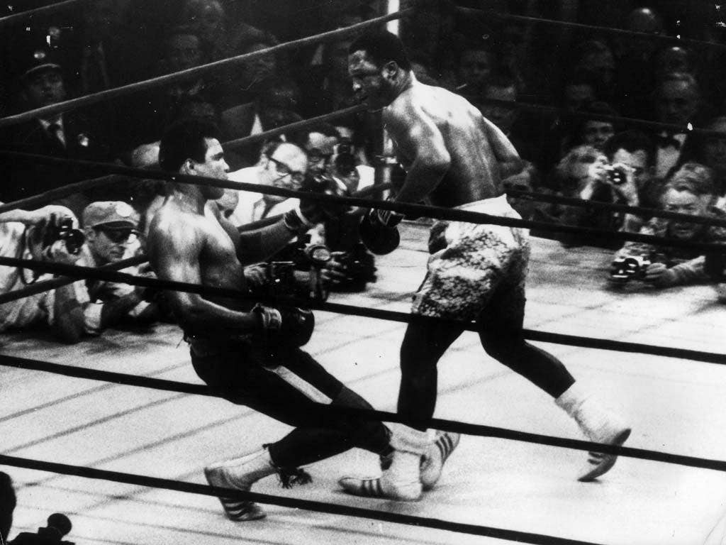 MARCH 1971 v MUHAMMAD ALI, NEW YORK, WON ON POINTS   Frazier emerged victorious from a showdown billed 'Fight of the Century', his first and last victory over bitter foe Ali. Ali was floored in the 15th round by a left hook after Frazier had dominated the