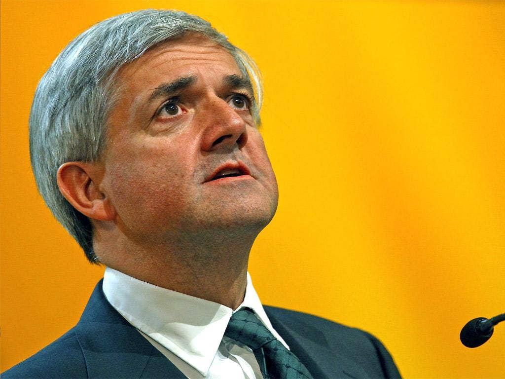 Chris Huhne broke the news of his affair to his wife during the half time interval of a World Cup match