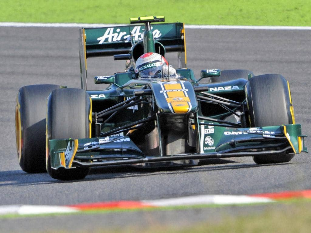 Jarno Trulli of Team Louts in action at the Japanese Grand Prix last month