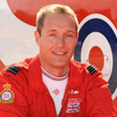 Sean Cunningham died in an incident on the runway at RAF Scampton in Lincolnshire yesterday morning