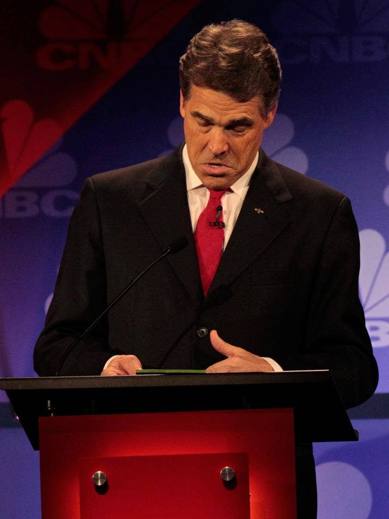 Rick Perry's floundering lasted an excruciating 53 seconds