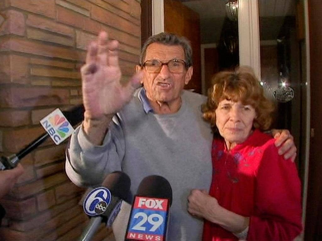 Joe Paterno with his wife Sue