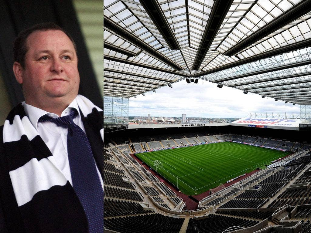 Newcastle owner Mike Ashley has been trying to sell the naming rights to St James' Park for over two years
