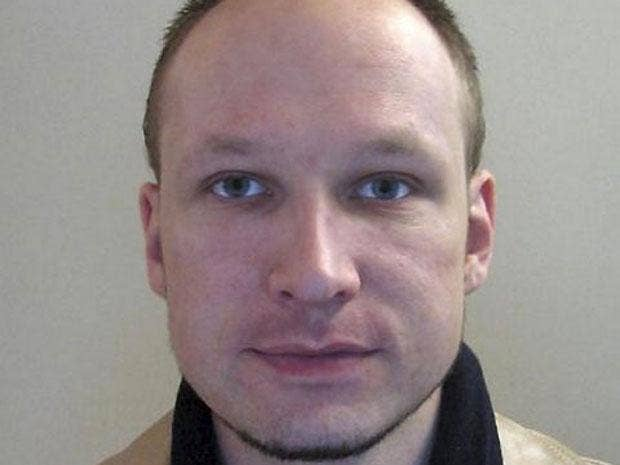 Anders Breivik appeared in court today