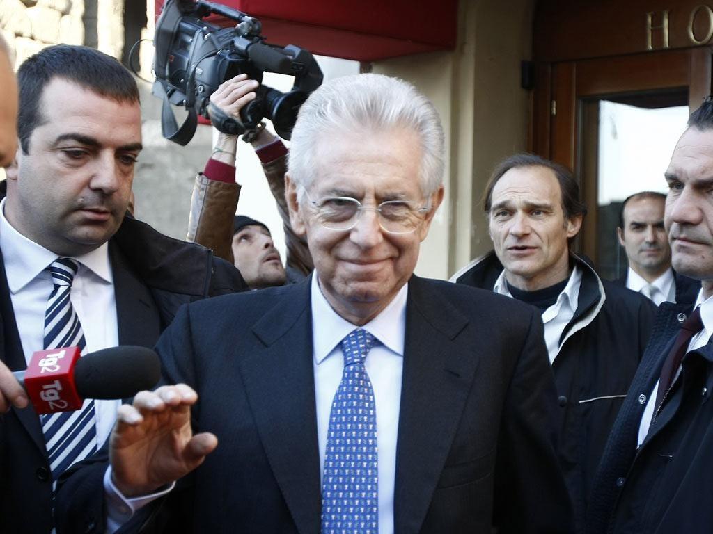 Mario Monti, senator and the prime minister designate