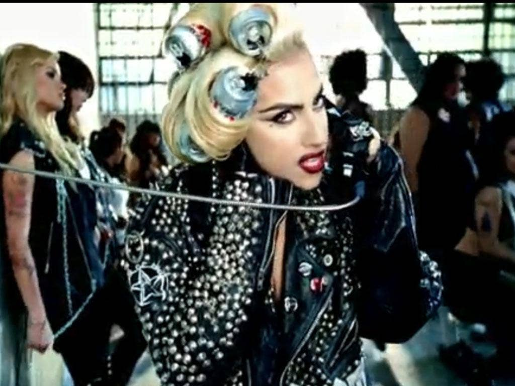 Gaga in her video for 'Telephone'