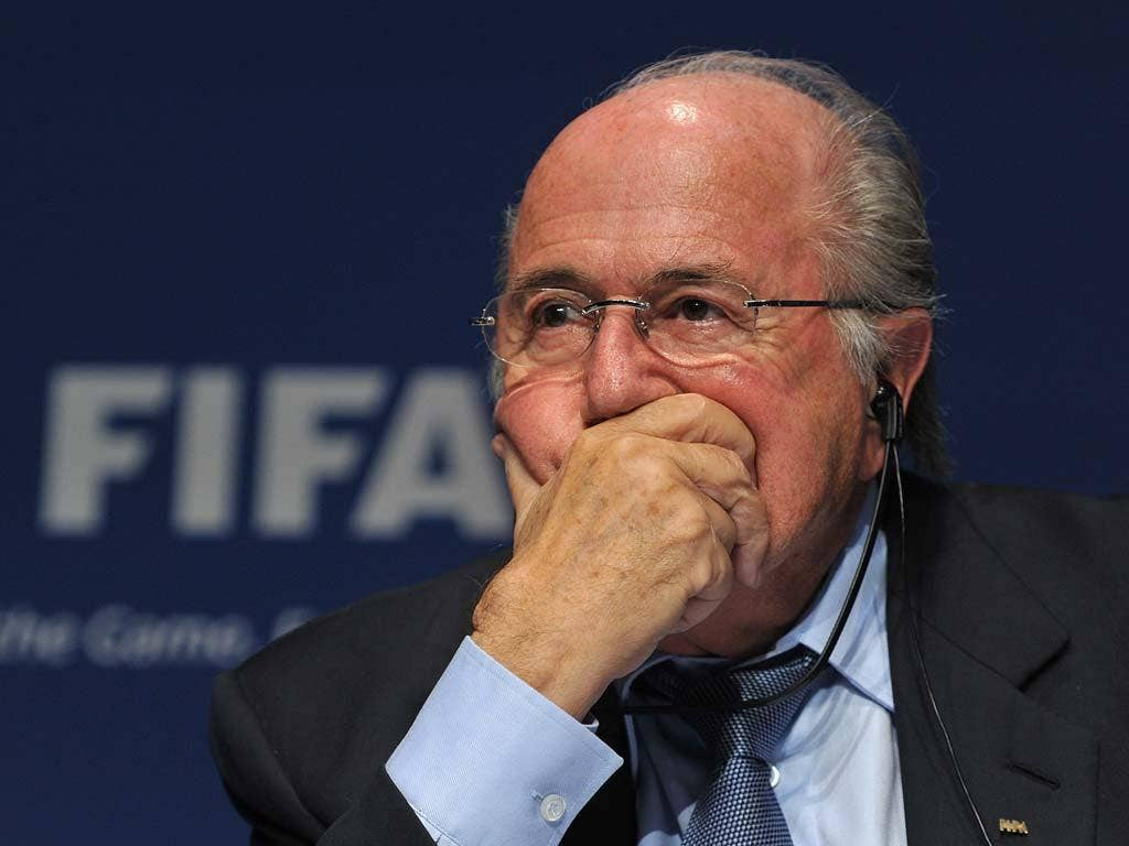 Sepp Blatter appeared to suggest racist abuse could be settled with a handshake