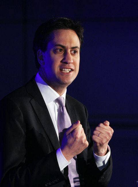 Ed Miliband  speaks at the launch of a new Engineering award today