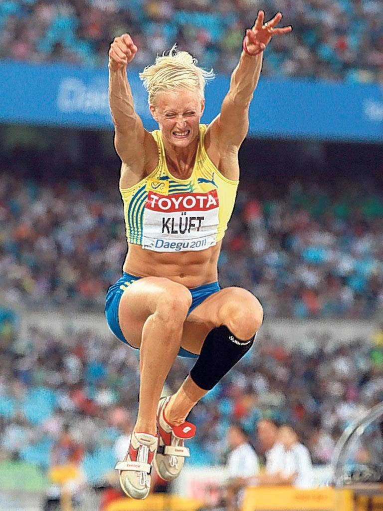 Former heptathlon queen Carolina Kluft now focuses on the long jump