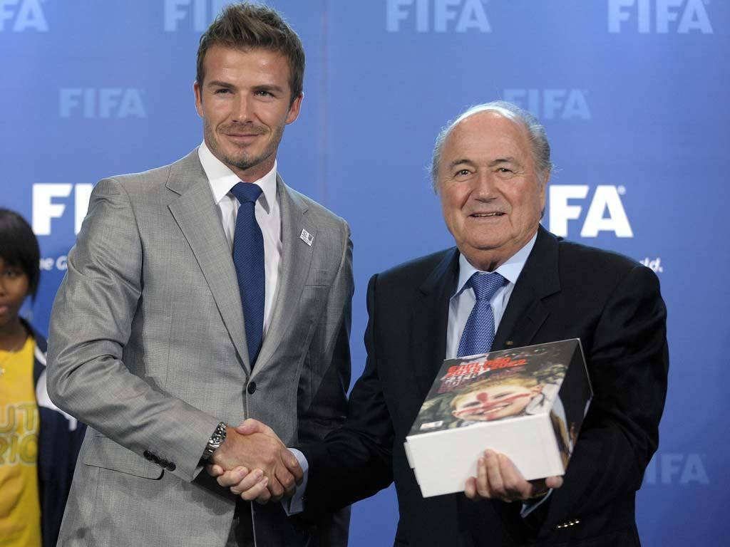 Beckham has joined the chorus of disapproval over Blatter's comments