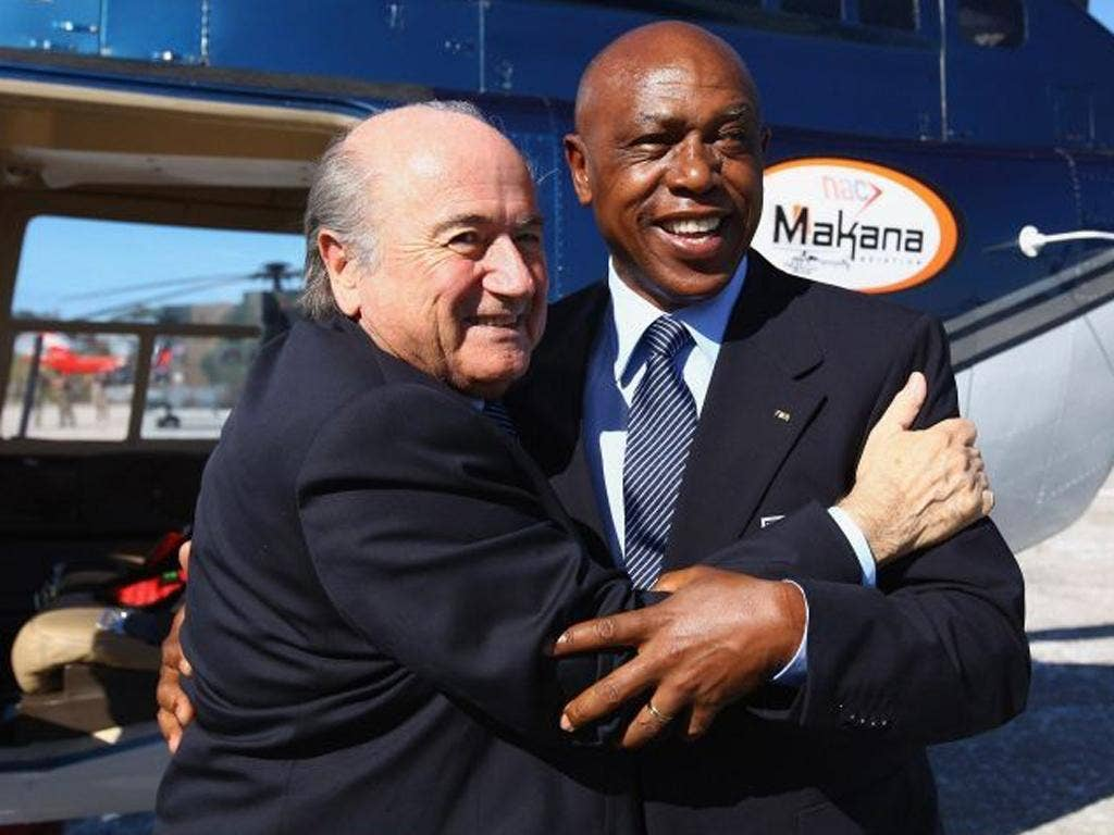 Furore: Sepp Blatter with Tokyo Sexwale in South Africa in 2009