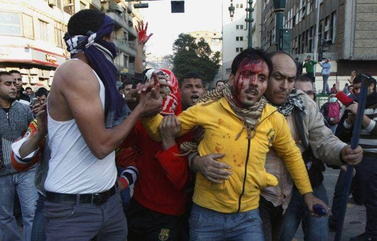 A man is wounded in Tahrir Square
