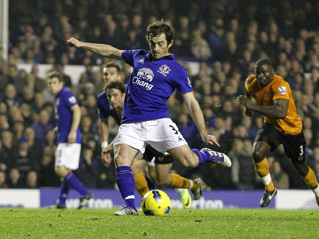 Leighton Baines seals the points for Everton with a late penalty