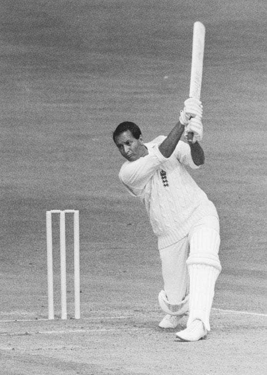 D'Oliveira in action for England against Australia at the Oval in 1968