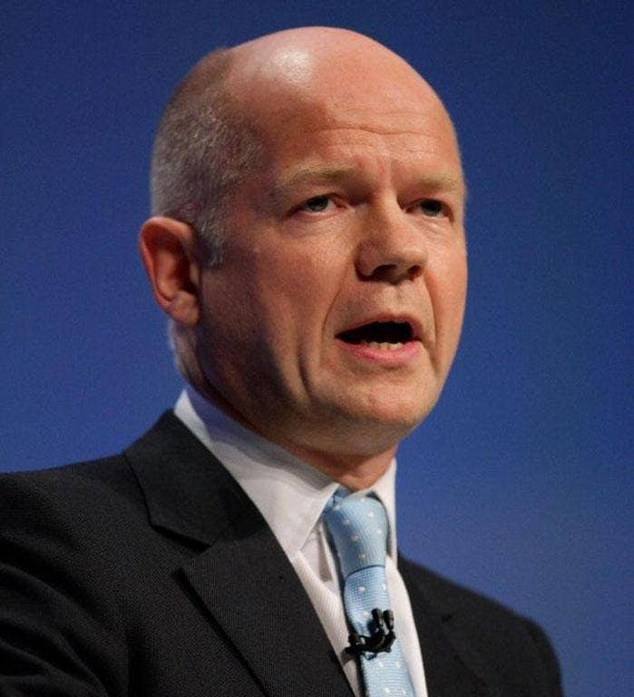 Mr Hague said the military should remain in charge to oversee elections