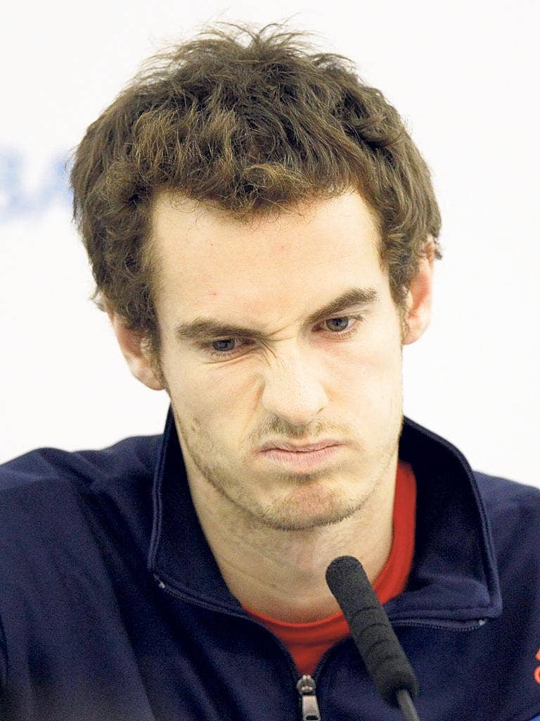 Andy Murray at a press conference at the O2 to announce his withdrawal from the World Tour Finals