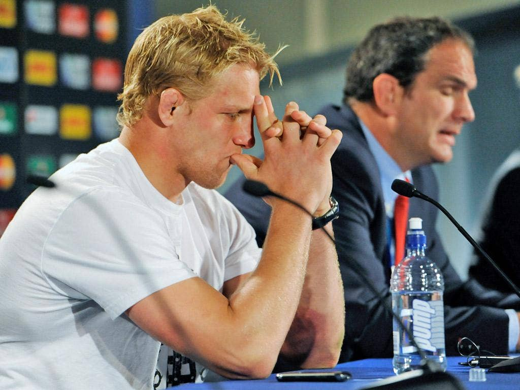 Lewis Moody and Martin Johnson have been heavily criticised in the leaked report - both are now no longer involved with England