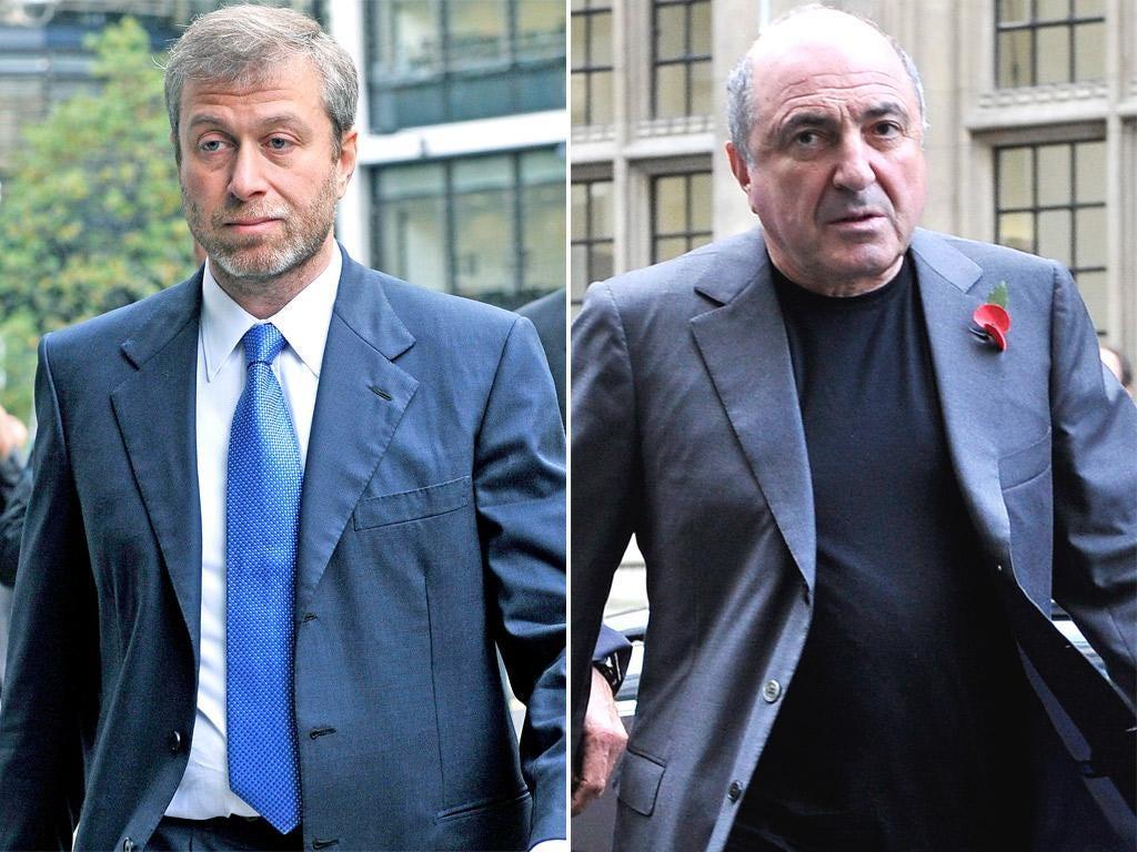 Roman Abramovich, left, and Boris Berezovsky